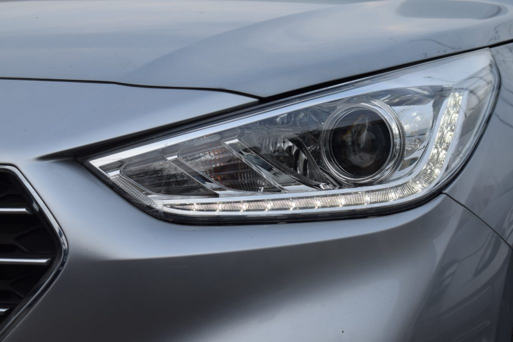 Picture of a car's right headlight